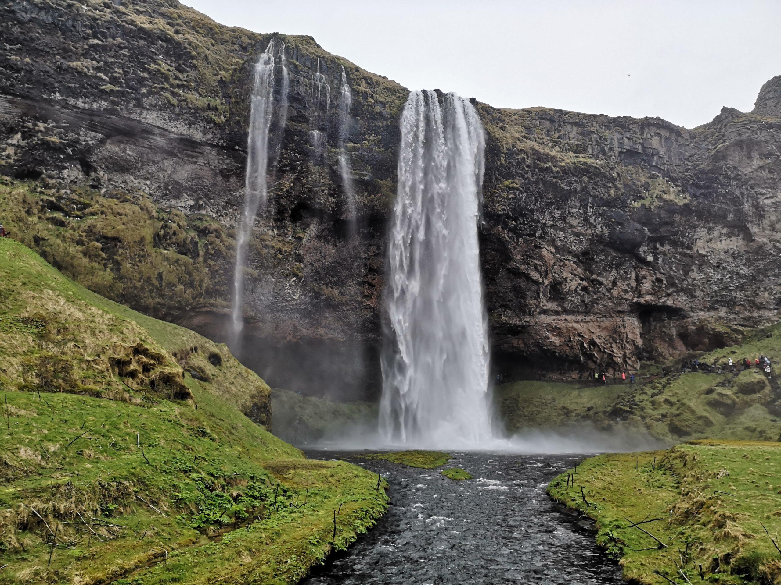 Wasserfälle und Gletscher im Süden