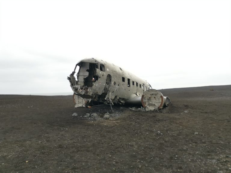 Das Flugzeugwrack in Solheimasandur