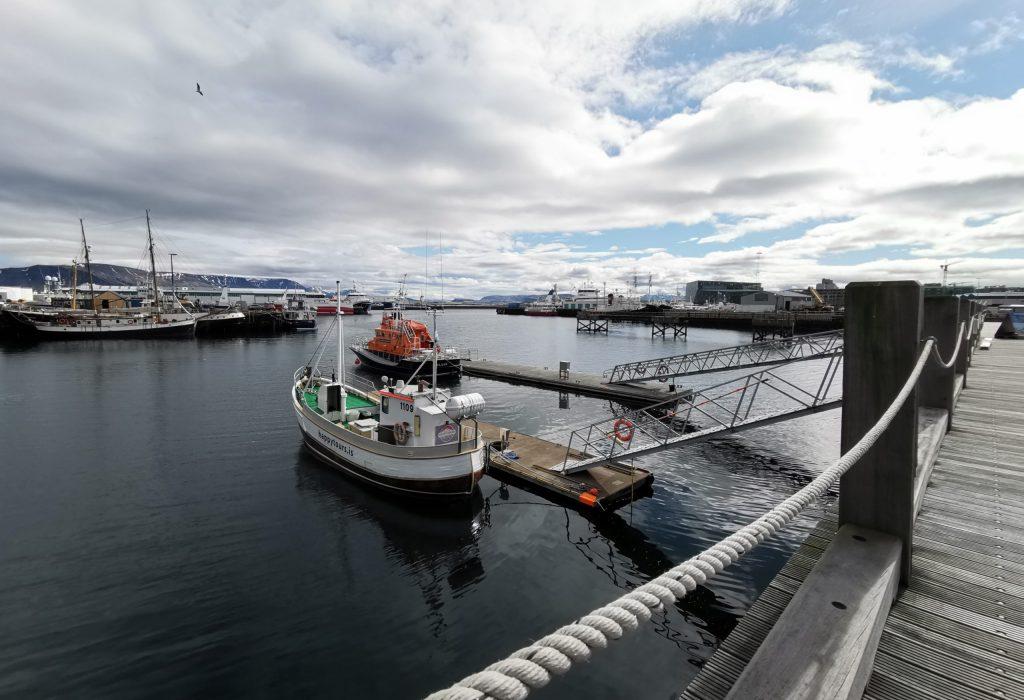 Boote im alten Hafen von Reykjavik