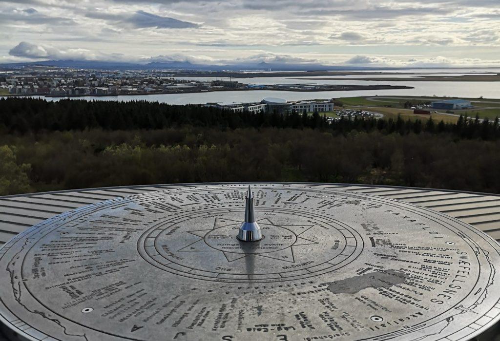 Der Ausblick auf Reykjavik von oben